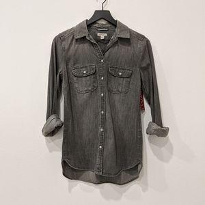 NEW! Denim button up shirt Sz XS